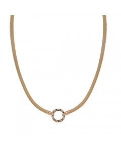 Mi Moneda Leather Estilo Caramel Necklace NEC-EST-04-39-60